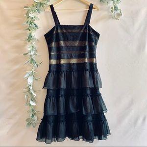 Michael Kors | Black Ruffle Dress sz